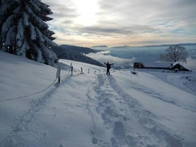 Commune de Dingy en hiver