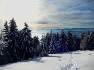 Dingy Saint Clair sous la neige